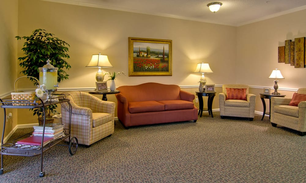 Entrance interior at Olive Grove Terrace Senior Living in Olive Branch, Mississippi
