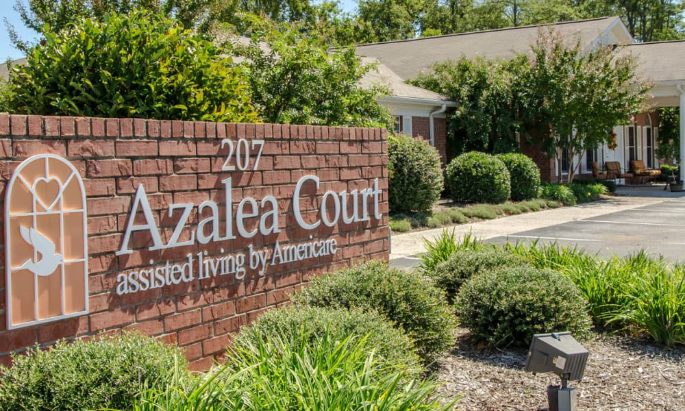 Branding and Signage outside of Azalea Court Senior Living in Smyrna, Tennessee