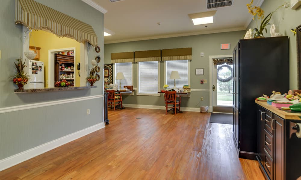 Shared kitchen at Azalea Court Senior Living in Smyrna, Tennessee