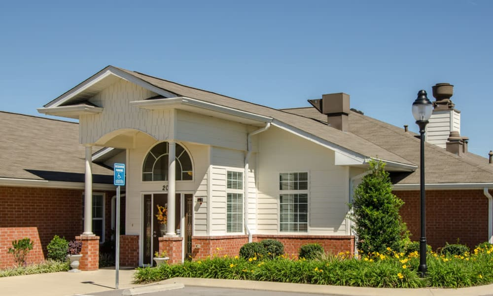 Memory Care main entrance at Azalea Court Senior Living in Smyrna, Tennessee