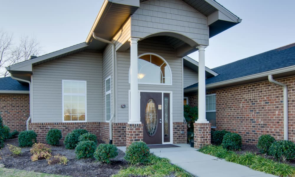 Entrance to Memory Care building at Willow Springs Senior Living in Spring Hill, Tennessee