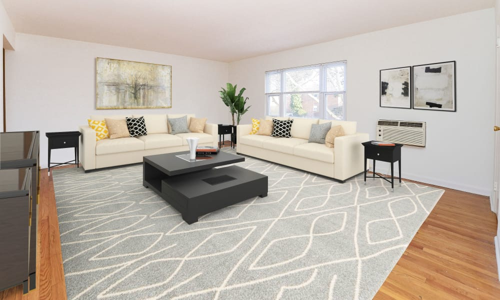 Spacious living area at Duncan Hill Apartments & Townhomes in Westfield, NJ