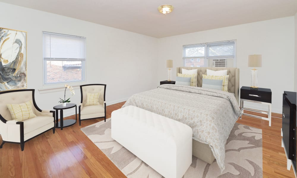 Bedroom at Duncan Hill Apartments & Townhomes in Westfield, New Jersey