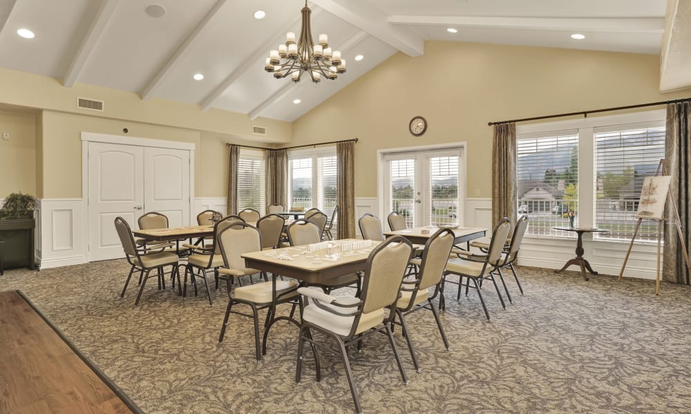 More dining areas at Highland Glen in Highland, Utah