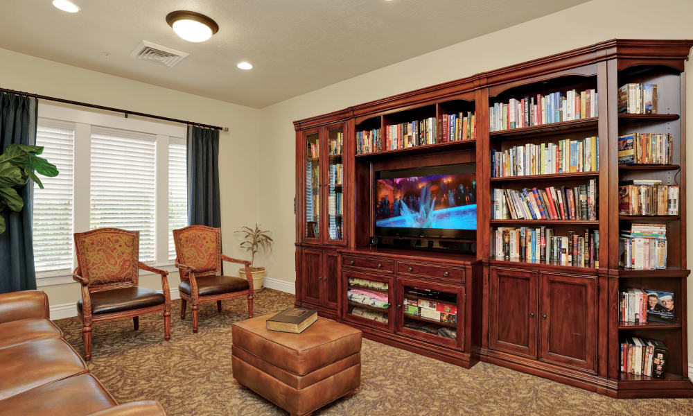 Television area at Highland Glen in Highland, Utah