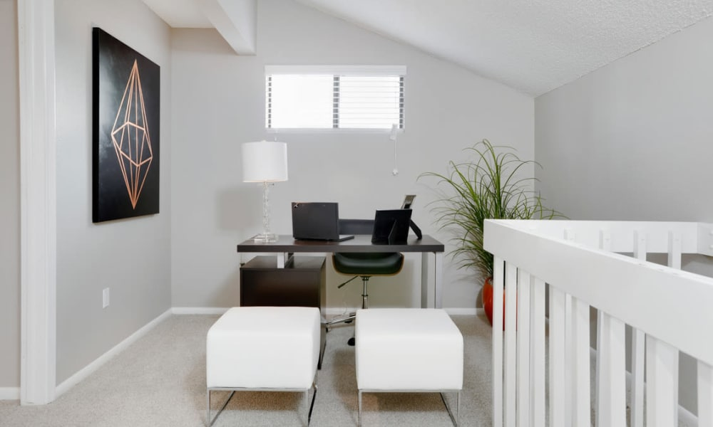 Office area at Environs Residential Rental Community in Westminster, Colorado