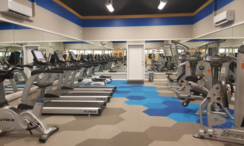 Modern fitness center at Environs Residential Rental Community in Westminster, Colorado