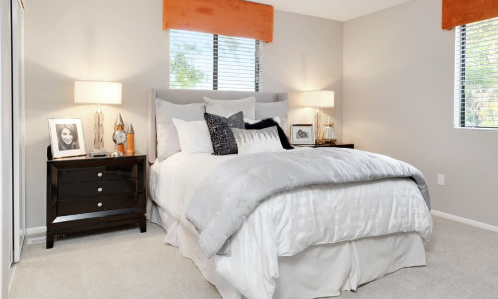 Natrually well-lit bedroom at Environs Residential Rental Community in Westminster, Colorado
