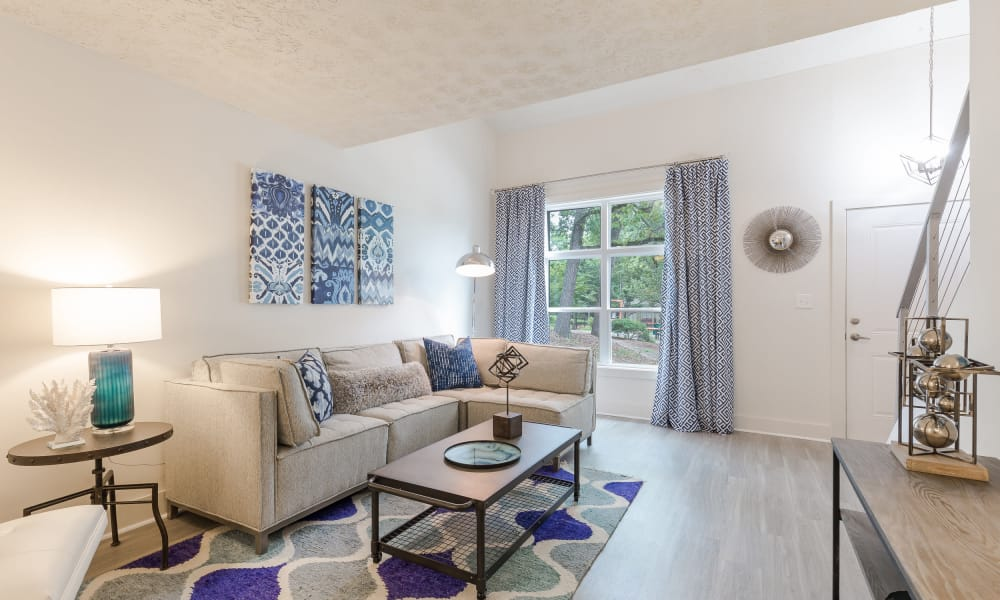 Spacious living room at The Arlowe in Smyrna, GA
