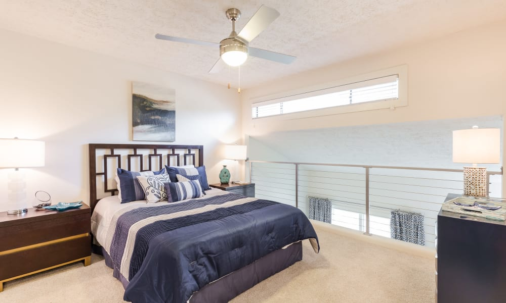 State-of-the-art bedroom at townhomes in The Arlowe, Smyrna, Georgia