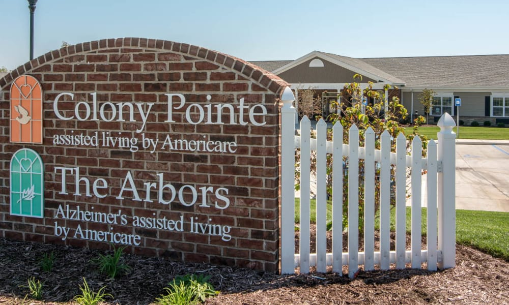 Branding and Signage outside of Colony Pointe Senior Living in Columbia, Missouri