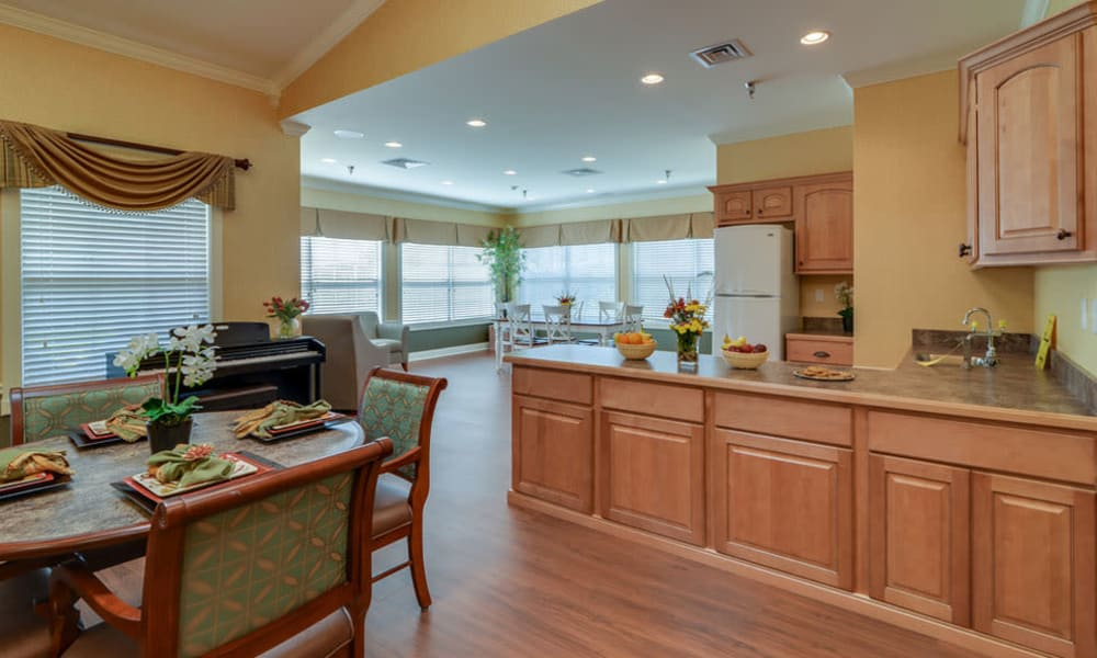 Memory Care kitchen at Colony Pointe Senior Living in Columbia, Missouri