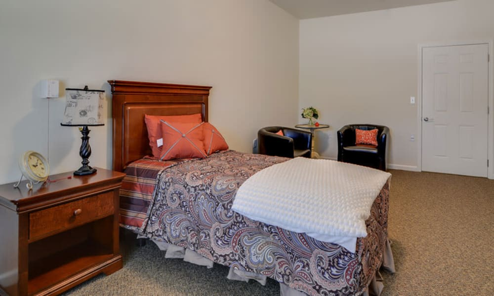 Memory Care studio at Colony Pointe Senior Living in Columbia, Missouri