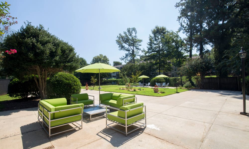 Outdoor patio at Avondale Reserve in Avondale Estates, Georgia