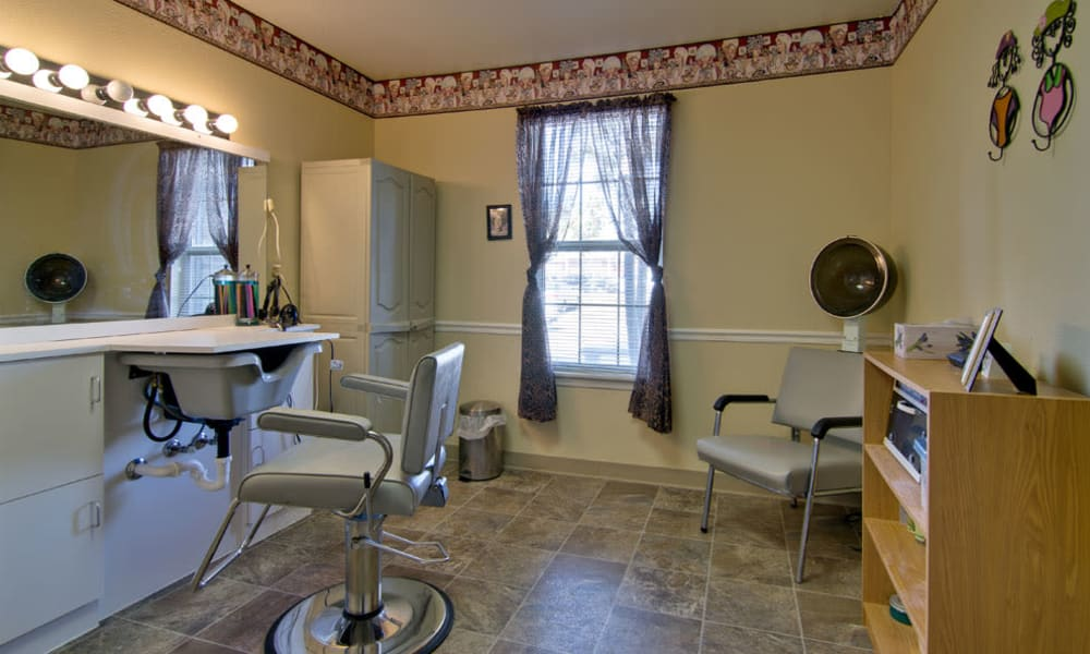 Community spa for residents at Etheridge House Senior Living in Union City, Tennessee