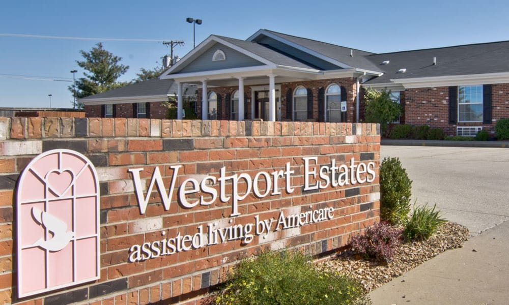 Branding and Signage outside of Westport Estates Senior Living in Marshall, Missouri