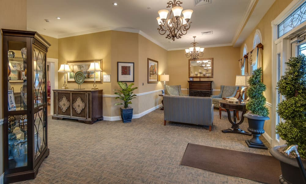 Main lobby at South Breeze Senior Living in Memphis, Tennessee