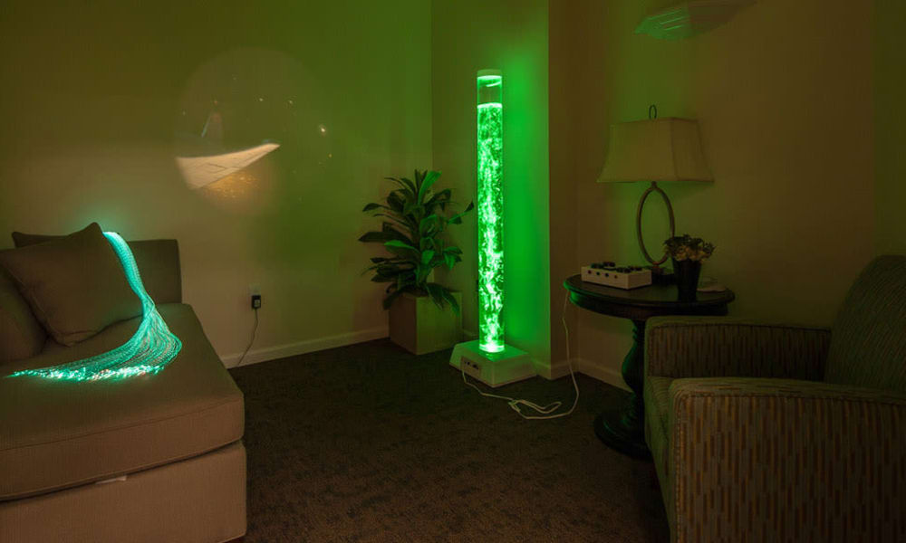 Sensory stimulation area at South Breeze Senior Living in Memphis, Tennessee