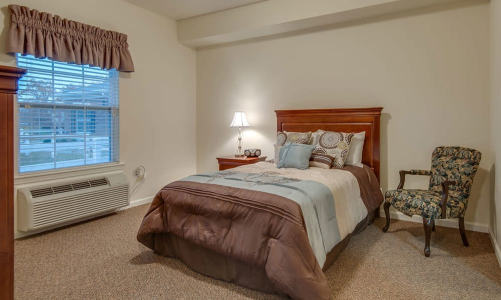 One bedroom floor plans at South Breeze Senior Living in Memphis, Tennessee