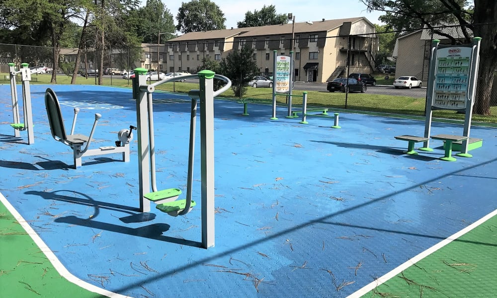 Parkview Flats outdoor fitness center in Murfreesboro, TN