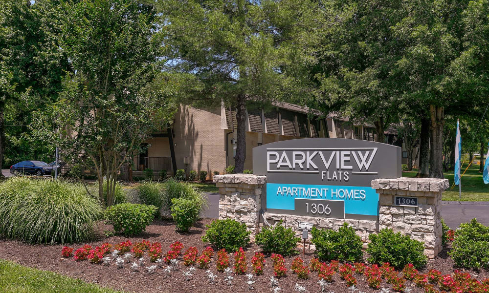 Parkview Flats front entrance in Murfreesboro, TN