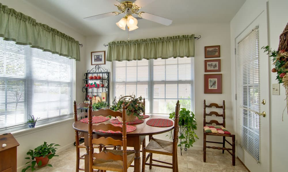 Model dining room for Independent Living at St. Francis Park community in Kennett, Missouri