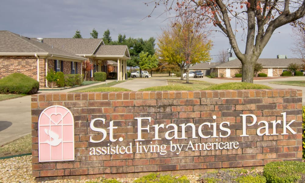 Branding and Signage outside of St. Francis Park Senior Living in Kennett, Missouri