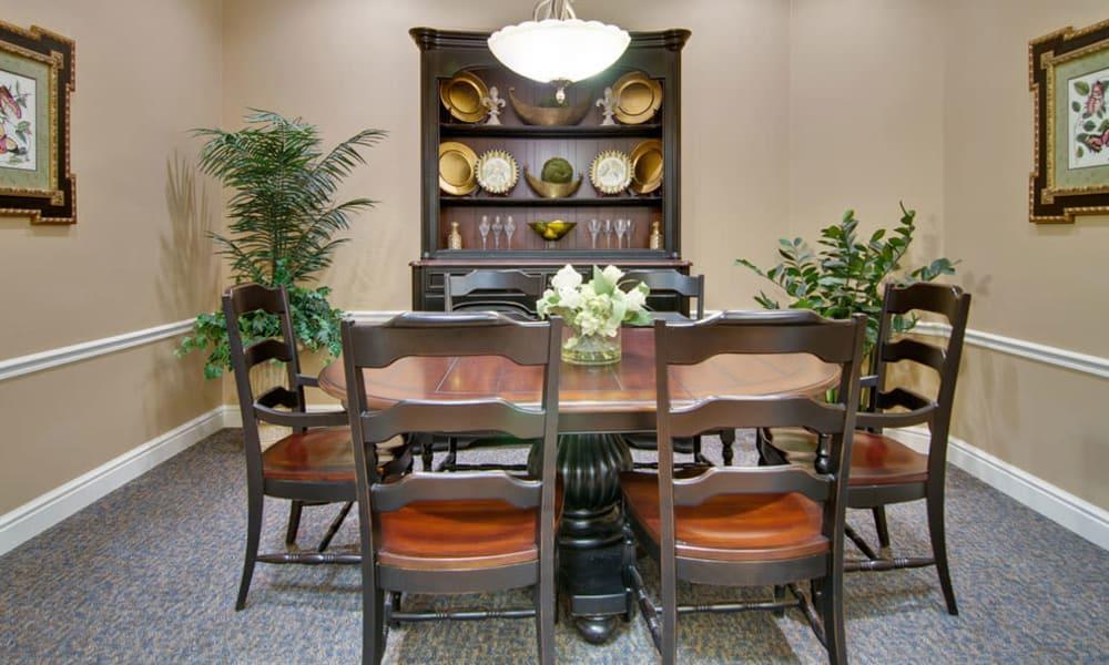 Private dining room at Hartmann Village Senior Living in Boonville, Missouri