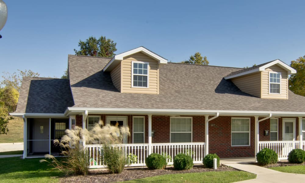 Independent Living cottages at Foxberry Terrace community in Webb City, Missouri