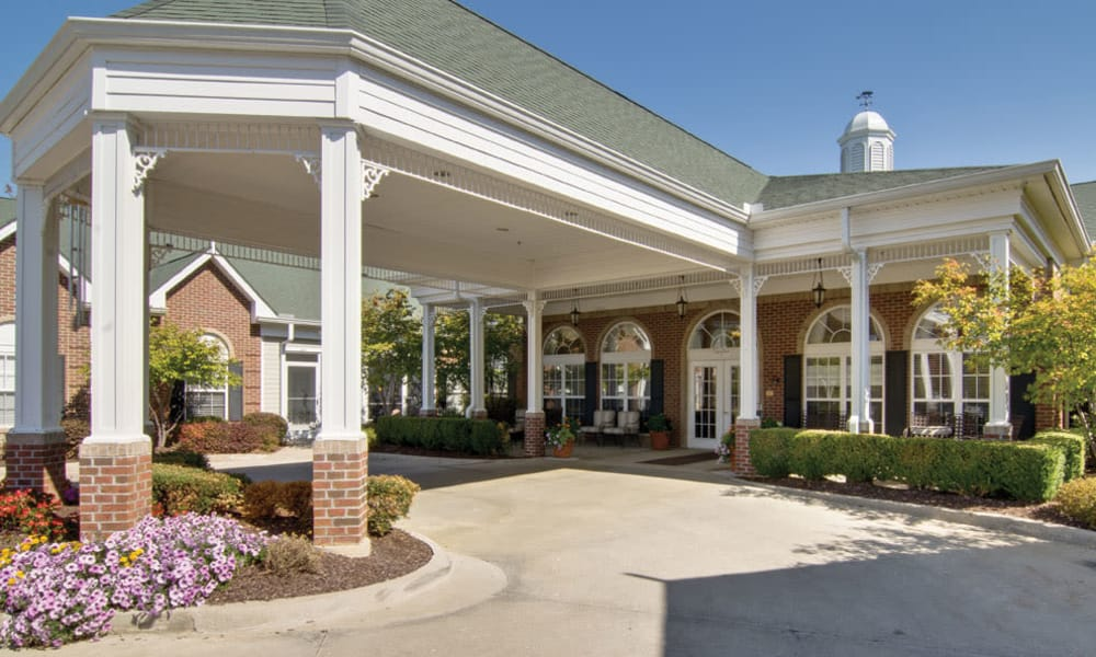 Main entrance at TigerPlace in Columbia, Missouri