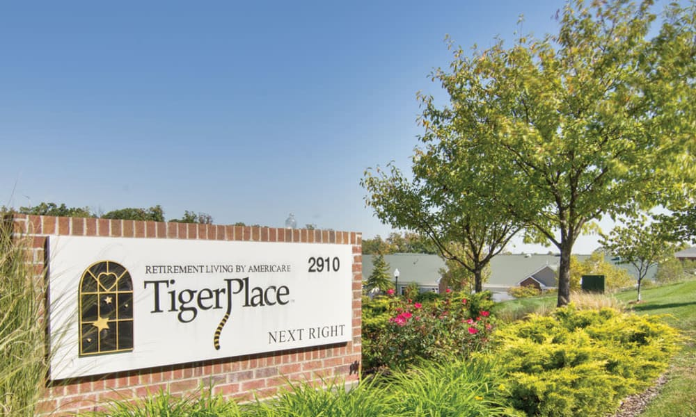 Branding and Signage outside of TigerPlace in Columbia, Missouri