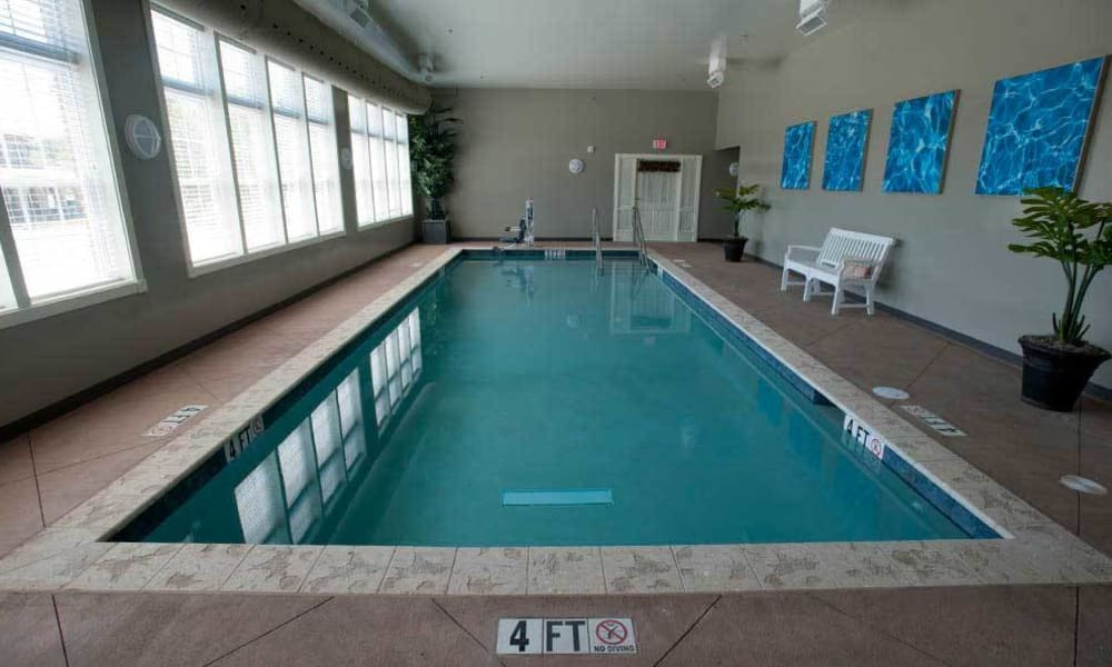 Large communal pool at TigerPlace in Columbia, Missouri
