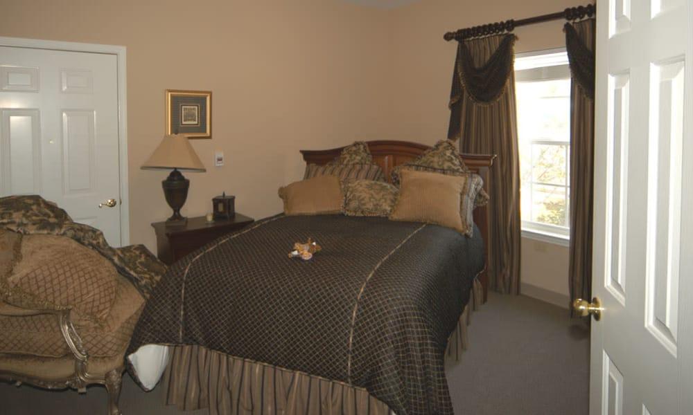 Bedroom floor plan at TigerPlace in Columbia, Missouri