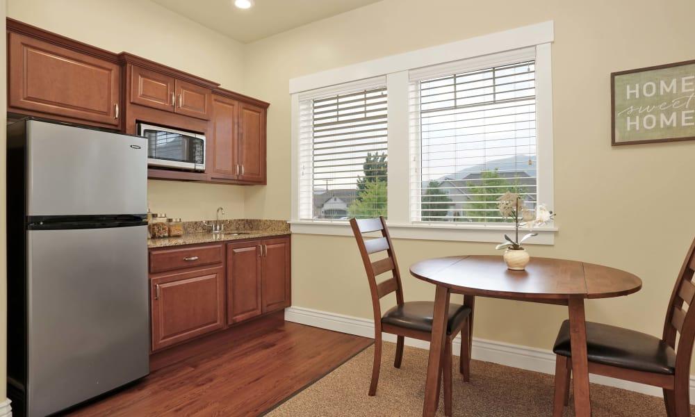 Modern kitchen at Highland Glen in Highland, Utah