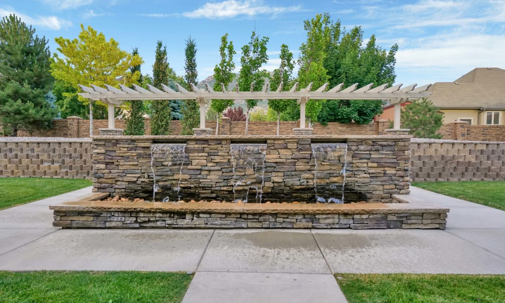 Fountain at Highland Glen in Highland, Utah