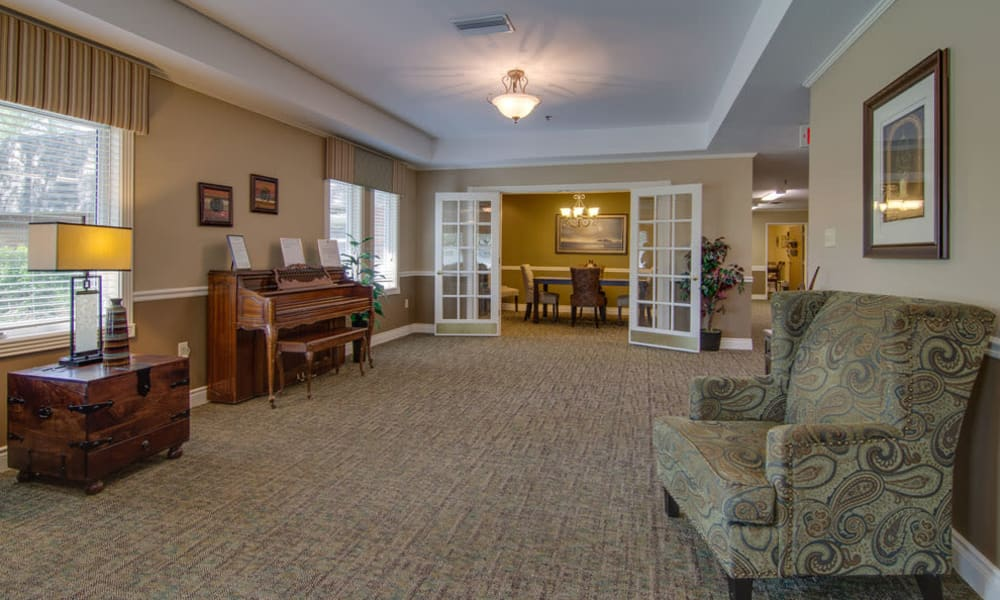 Music room at North Point in Paola, Kansas