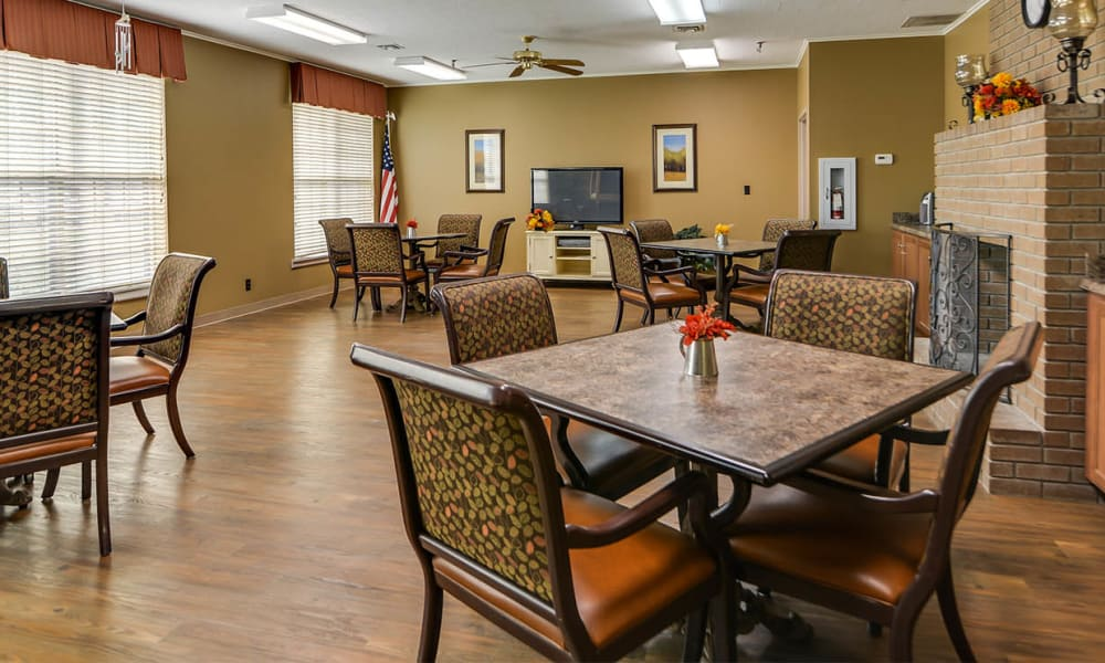 Dining area at the center of Eureka Nursing in Eureka, Kansas