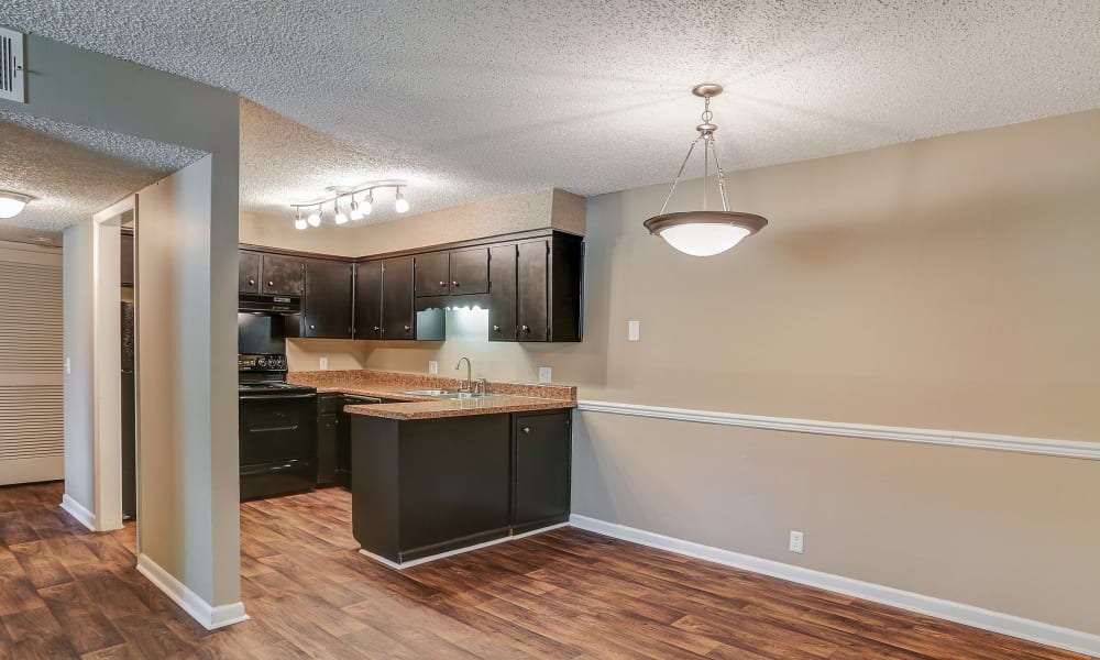 Apartments with upscale kitchens at Parkview Flats