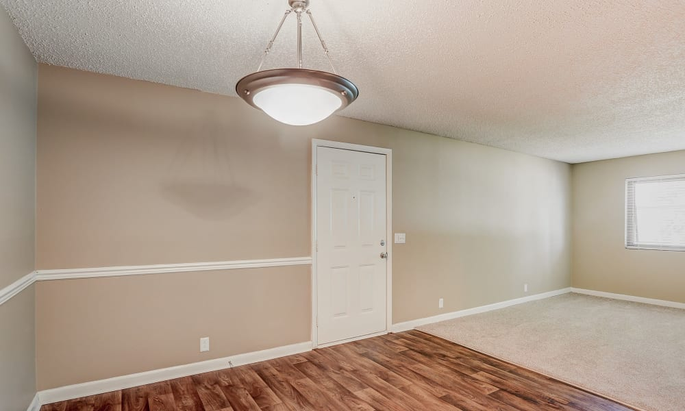 Parkview Flats has apartments with open floor plans and hardwood floors