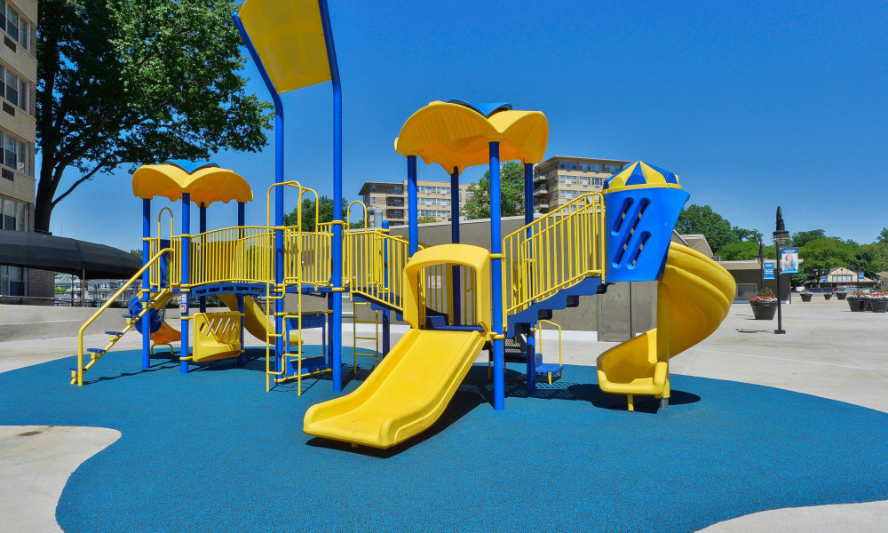 State-of-the-art playground at Parkview at Collingswood Apartment Homes in Collingswood, New Jersey