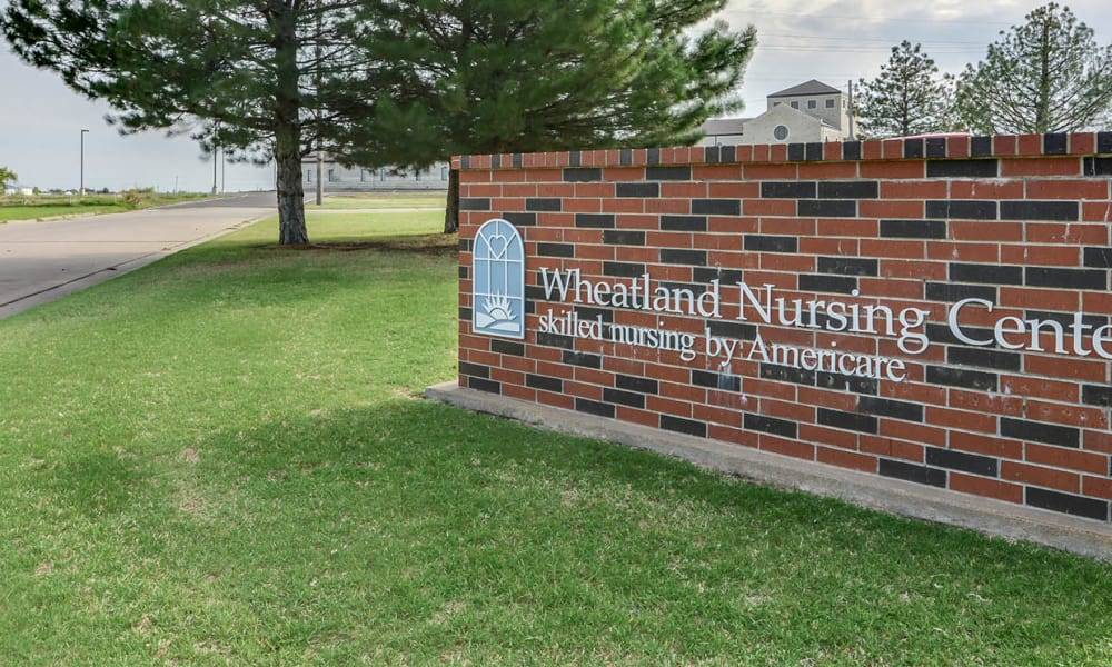 Branding and Signage outside of Wheatland Nursing Center in Russell, Kansas