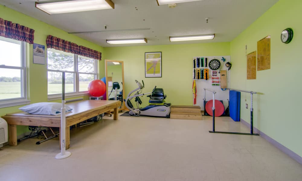 Resident fitness room at Osage Nursing Center in Osage City, Kansas