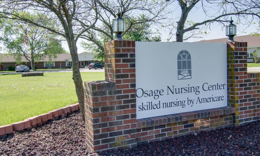 Branding and Signage outside of Osage Nursing Center in Osage City, Kansas