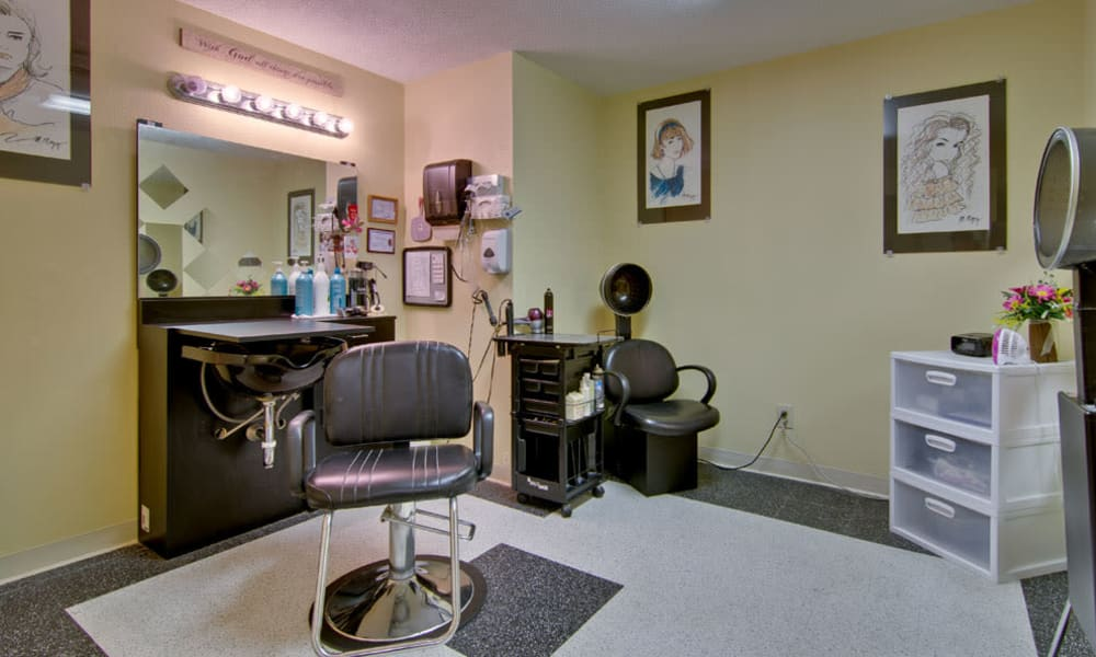 On-site hair salon at Southbrook in Farmington, Missouri