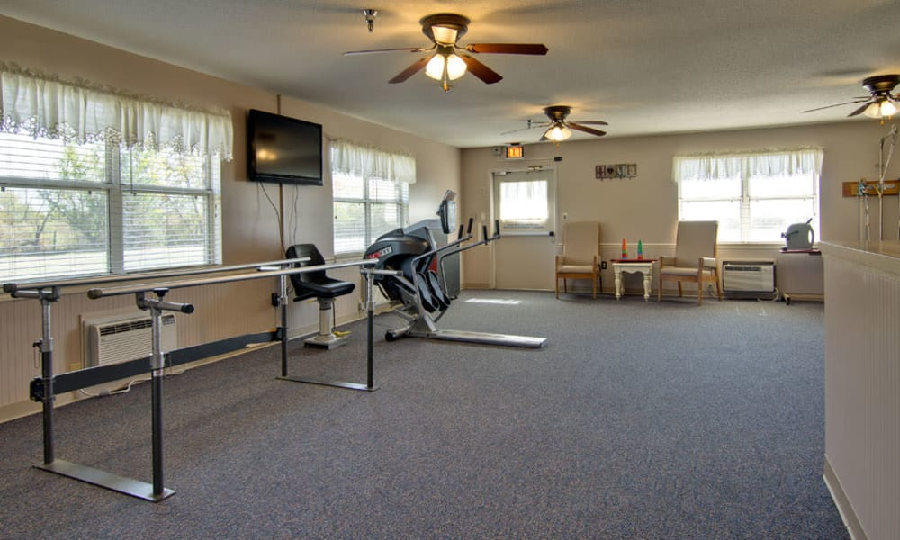 Physical therapy room at Pioneer in Marceline, MO