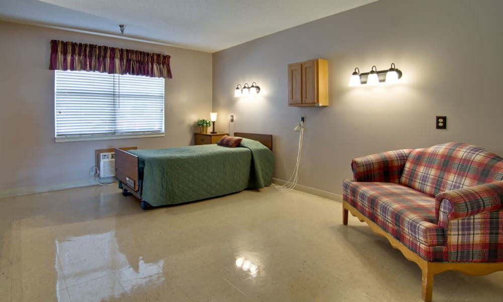 Single bedroom floor plan at Pioneer in Marceline, Missouri