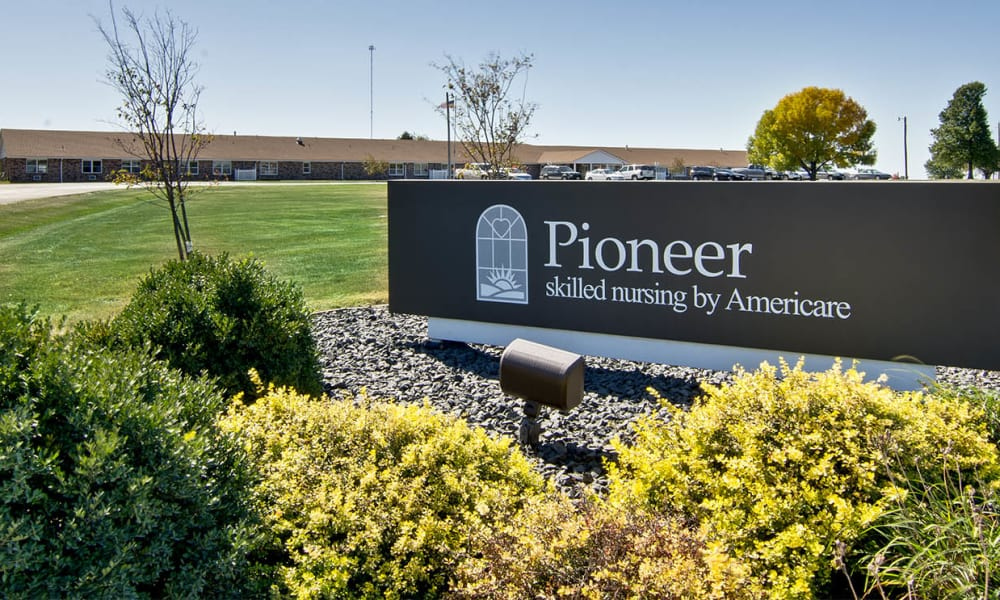 Branding and Signage outside of Pioneer in Marceline, Missouri