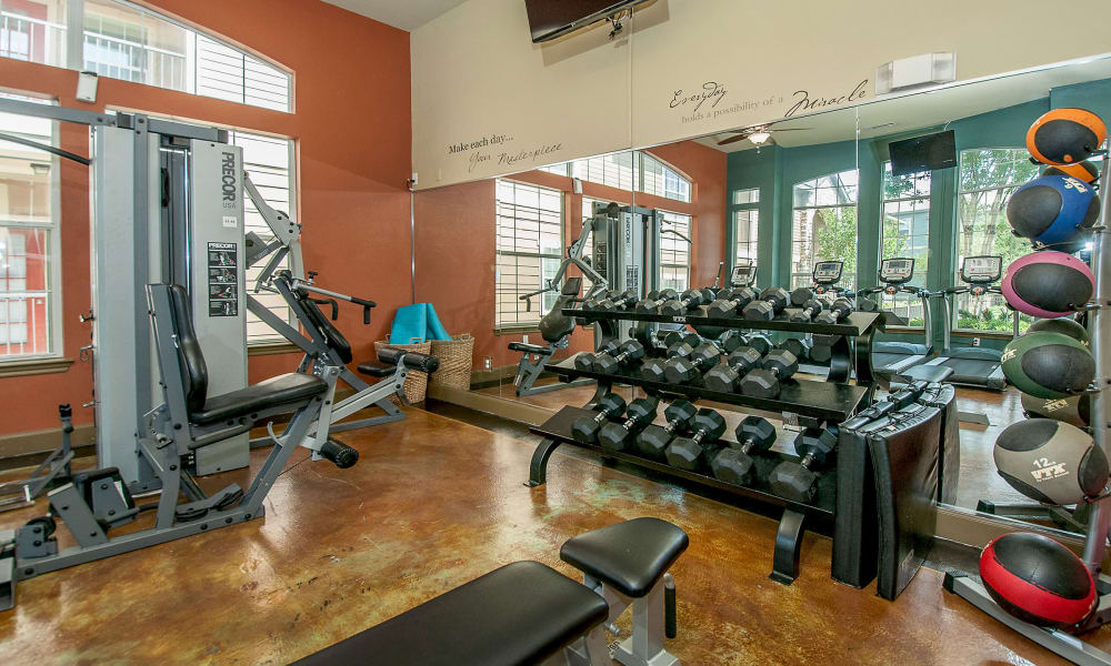 Fitness center at Sunrise Canyon in Universal City, Texas