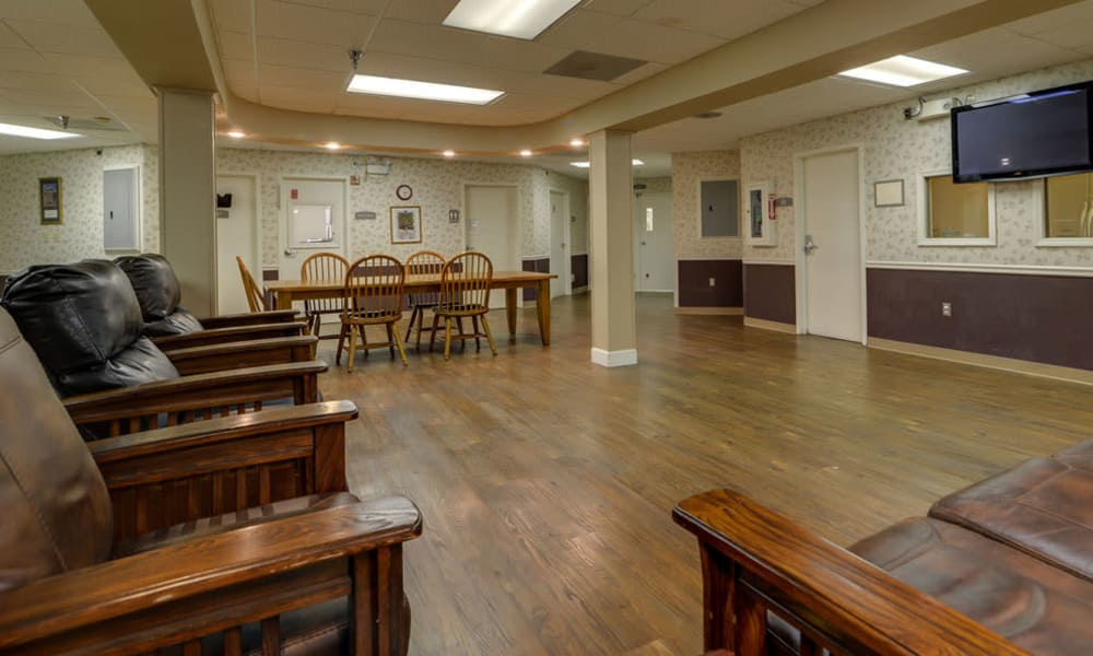 Second entertainment area at Birch Tree Place in Birch Tree, Missouri