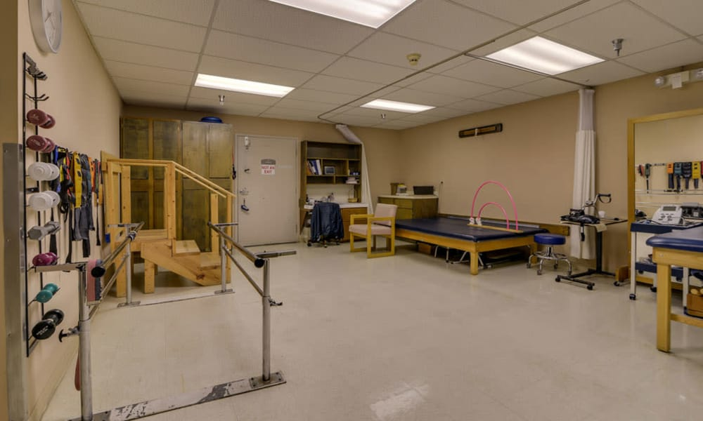 The exercise room at Birch Tree Place in Birch Tree, Missouri